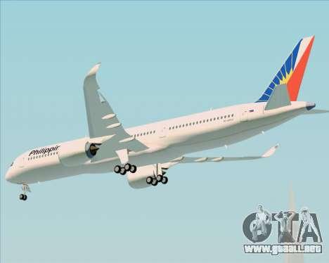 Airbus A350-900 Philippine Airlines para GTA San Andreas vista hacia atrás