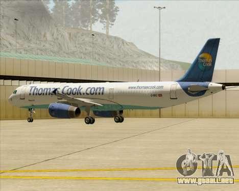 Airbus A321-200 Thomas Cook Airlines para el motor de GTA San Andreas