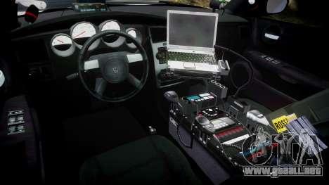 Dodge Charger 2010 LC Sheriff [ELS] para GTA 4 vista hacia atrás