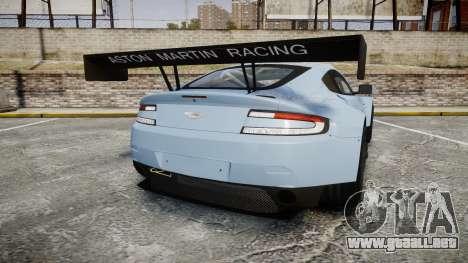 Aston Martin Vantage GTE [Updated] para GTA 4 Vista posterior izquierda