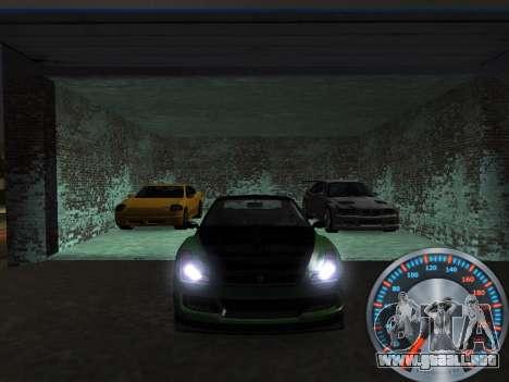 Metal clásico velocímetro para GTA San Andreas tercera pantalla