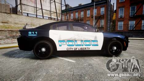 Dodge Charger 2015 City of Liberty [ELS] para GTA 4 left