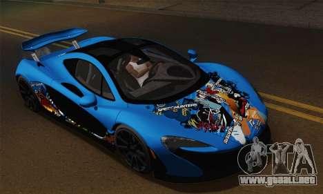 McLaren P1 Black Revel para la visión correcta GTA San Andreas