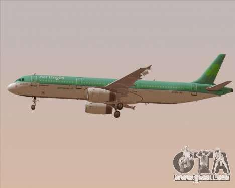 Airbus A321-200 Aer Lingus para las ruedas de GTA San Andreas