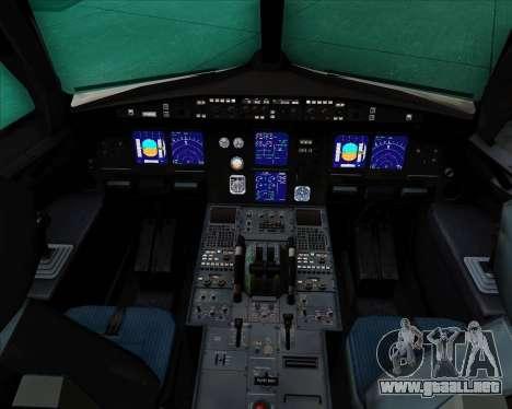 Airbus A321-200 Aeroflot - Russian Airlines para GTA San Andreas interior