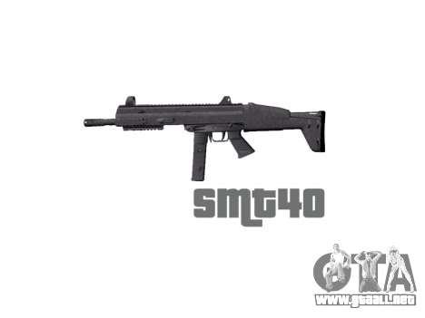 Pistola de SMT40 con la culata icon1 para GTA 4 tercera pantalla