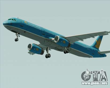Airbus A321-200 Vietnam Airlines para GTA San Andreas left