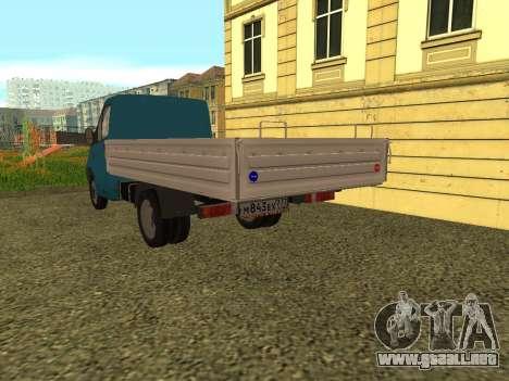 Gacela De La Siguiente para GTA San Andreas vista posterior izquierda