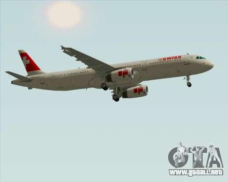 Airbus A321-200 Swiss International Air Lines para visión interna GTA San Andreas