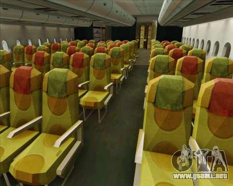 Airbus A380-800 Skymark Airlines para las ruedas de GTA San Andreas