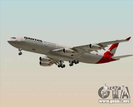 Airbus A340-300 Qantas para GTA San Andreas left