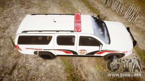 Chevrolet Suburban 2008 Hebron Police [ELS] Red para GTA 4 visión correcta
