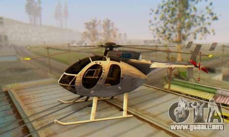 El MD500E helicóptero v3 para GTA San Andreas left