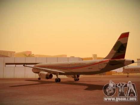 Airbus A321-232 Middle East Airlines para GTA San Andreas vista posterior izquierda