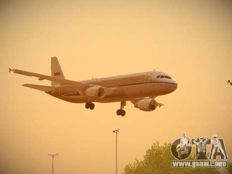 Airbus A320-214 Aeroflot Retrojet para visión interna GTA San Andreas