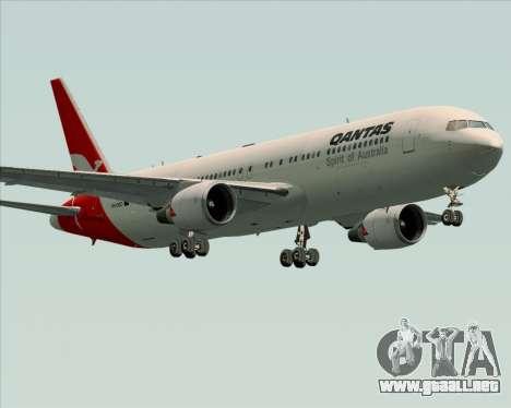 Boeing 767-300ER Qantas (Old Colors) para vista inferior GTA San Andreas