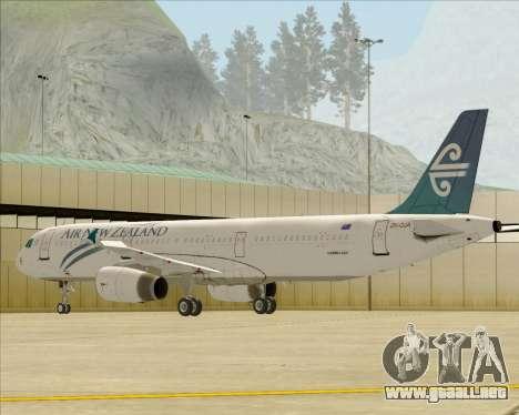 Airbus A321-200 Air New Zealand para las ruedas de GTA San Andreas