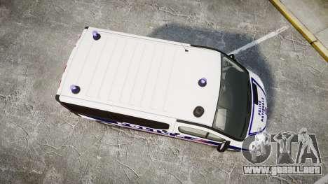 Renault Trafic Police Nationale para GTA 4 visión correcta