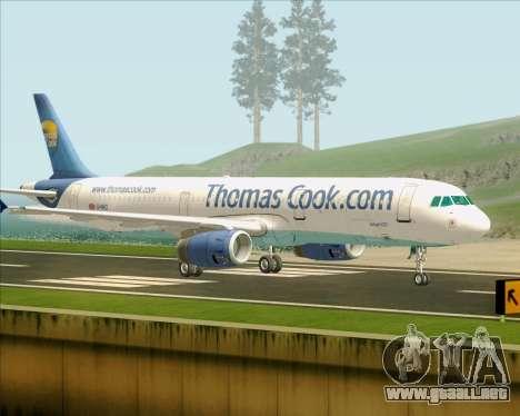 Airbus A321-200 Thomas Cook Airlines para la visión correcta GTA San Andreas