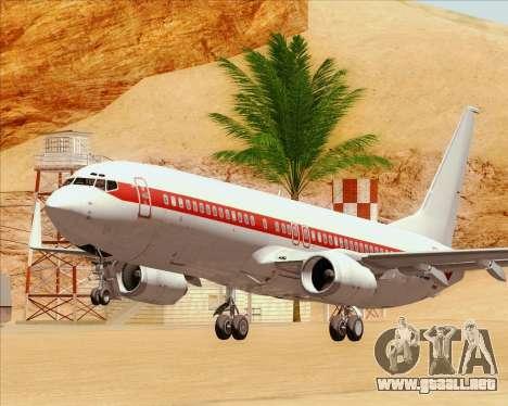 Boeing 737-800 EG&G - Janet para vista inferior GTA San Andreas