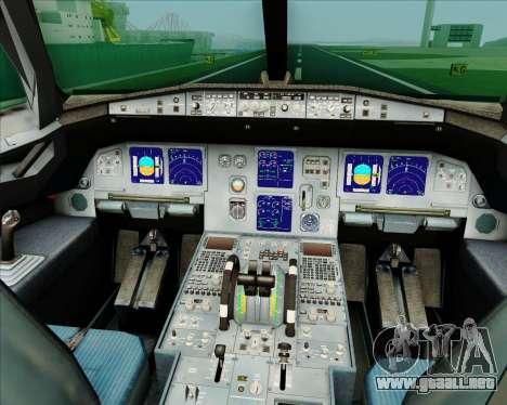 Airbus A321-200 Air China (Beautiful Sichuan) para GTA San Andreas interior
