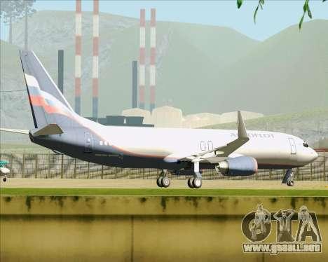 Boeing 737-8LJ Aeroflot - Russian Airlines para vista inferior GTA San Andreas