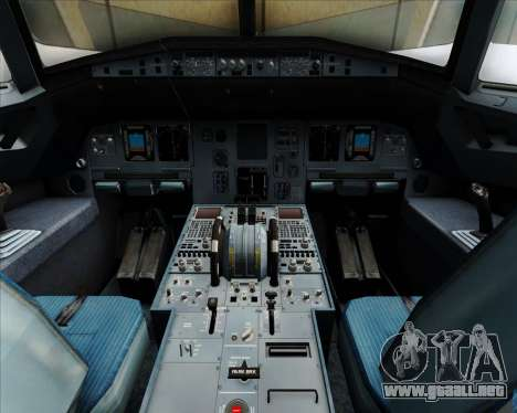 Airbus A320-200 Ansett Australia para GTA San Andreas interior