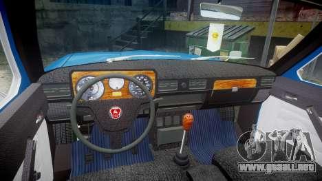 GAS-24-12 Volga Wh1 para GTA 4 vista hacia atrás
