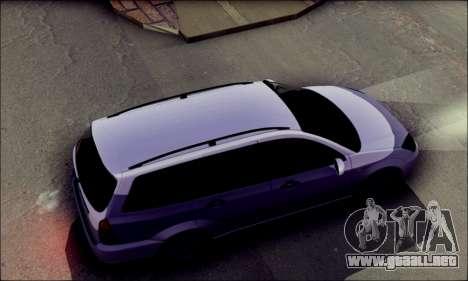 Ford Focus 1998 Wagon para GTA San Andreas vista posterior izquierda