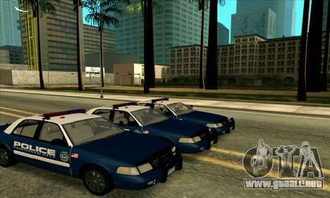 FCPD Ford Crown Victoria para GTA San Andreas vista posterior izquierda