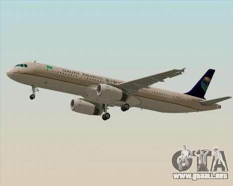 Airbus A321-200 Saudi Arabian Airlines para el motor de GTA San Andreas