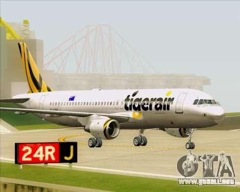 Airbus A320-200 Tigerair Australia para GTA San Andreas left