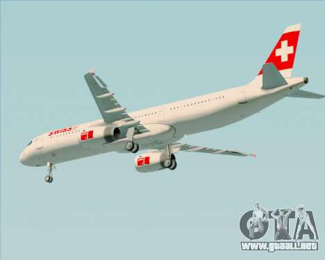 Airbus A321-200 Swiss International Air Lines para las ruedas de GTA San Andreas