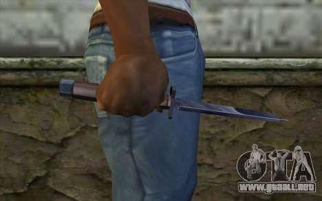 American cuchillo para GTA San Andreas tercera pantalla