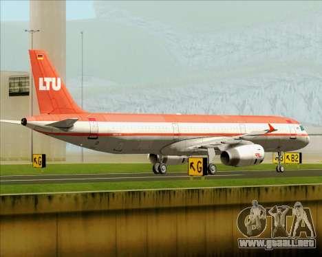 Airbus A321-200 LTU International para GTA San Andreas vista posterior izquierda