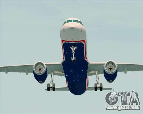 Airbus A321-200 US Airways para la visión correcta GTA San Andreas