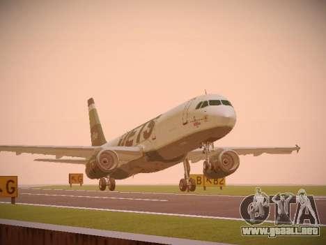 Airbus A321-232 jetBlue NYJets para GTA San Andreas left