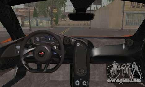 McLaren P1 Black Revel para GTA San Andreas vista posterior izquierda
