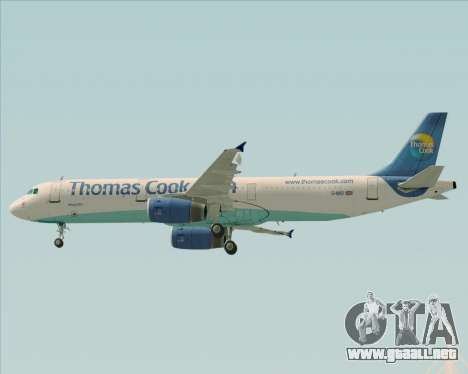Airbus A321-200 Thomas Cook Airlines para la vista superior GTA San Andreas