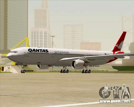 Airbus A330-300 Qantas (New Colors) para GTA San Andreas left
