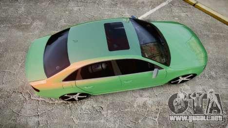 Audi S4 2010 FF Edition para GTA 4 visión correcta