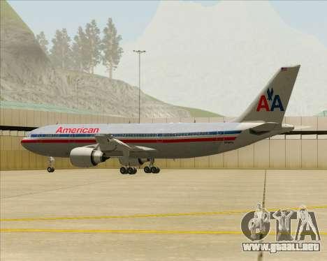 Airbus A300-600 American Airlines para las ruedas de GTA San Andreas