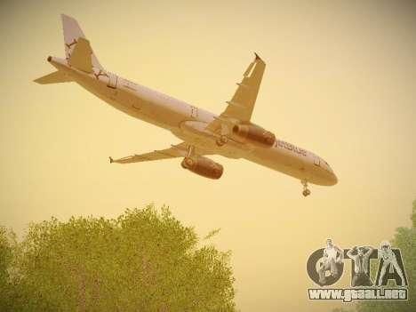 Airbus A321-232 jetBlue I love Blue York para vista lateral GTA San Andreas