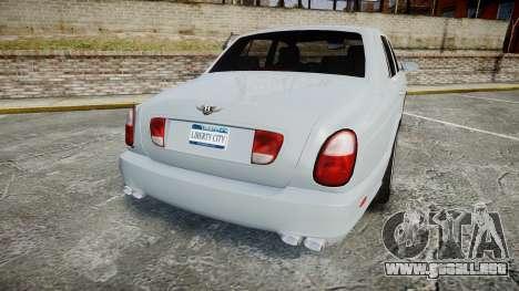 Bentley Arnage T 2005 Rims1 Chrome para GTA 4 Vista posterior izquierda
