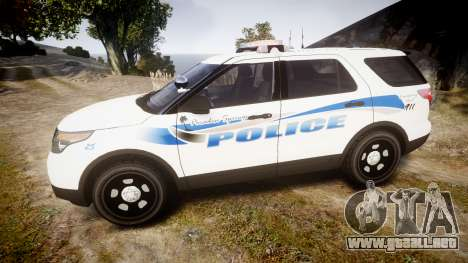 Ford Explorer 2013 PS Police [ELS] para GTA 4 left