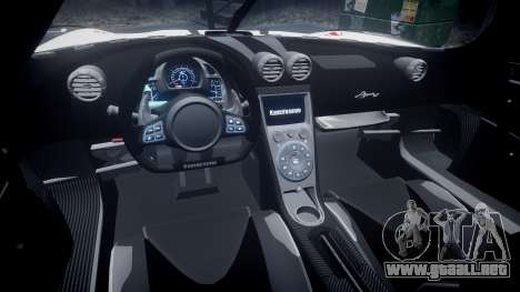 Koenigsegg Agera R 2013 [EPM] RX-93 para GTA 4 vista hacia atrás