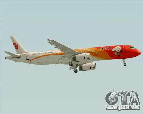 Airbus A321-200 Air China (Beautiful Sichuan) para vista lateral GTA San Andreas