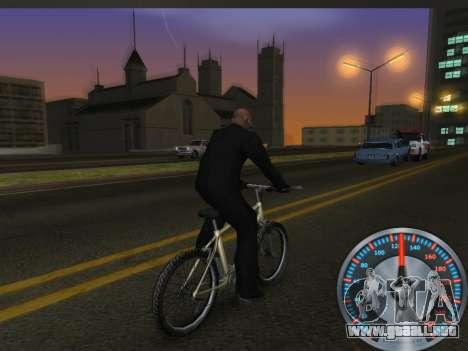 Metal clásico velocímetro para GTA San Andreas quinta pantalla