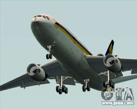 McDonnell Douglas DC-10-30 Singapore Airlines para vista inferior GTA San Andreas