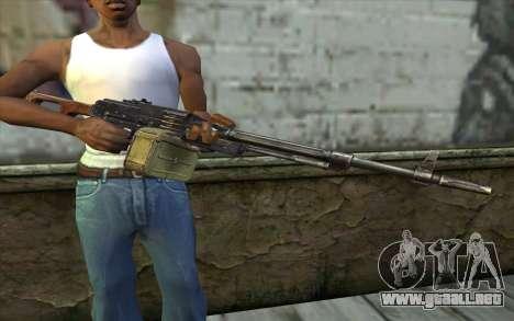 La Ametralladora Kalashnikov Modernizado para GTA San Andreas tercera pantalla